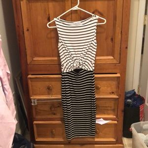 Anthro striped front detailed dress